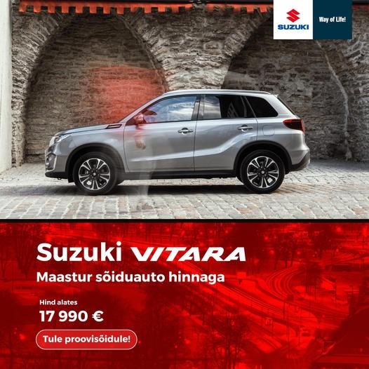Suzuki Vitara. Maastur sõiduauto hinnaga.